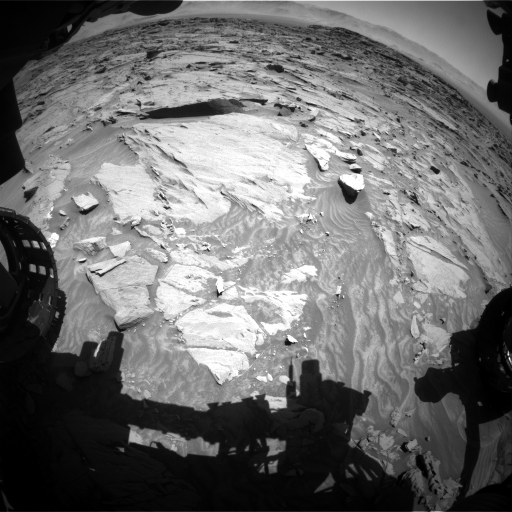 Nasa's Mars rover Curiosity acquired this image using its Front Hazard Avoidance Camera (Front Hazcam) on Sol 1298, at drive 2674, site number 53