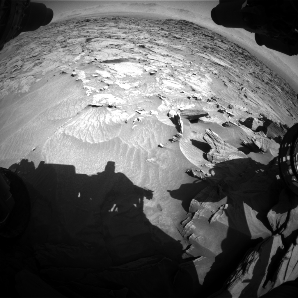 Nasa's Mars rover Curiosity acquired this image using its Front Hazard Avoidance Camera (Front Hazcam) on Sol 1298, at drive 2644, site number 53