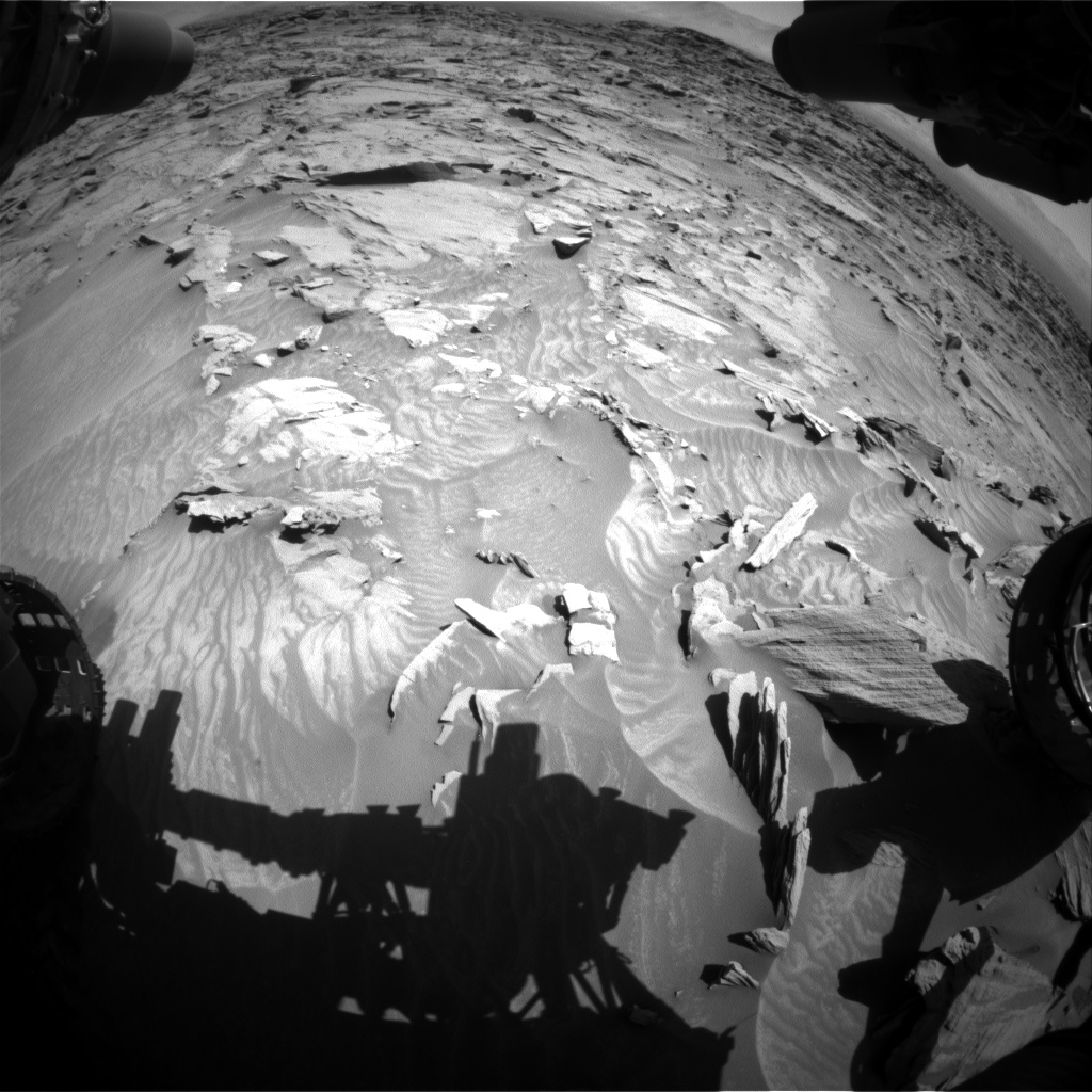 Nasa's Mars rover Curiosity acquired this image using its Front Hazard Avoidance Camera (Front Hazcam) on Sol 1298, at drive 2656, site number 53