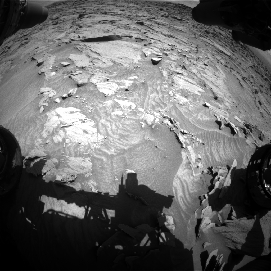 Nasa's Mars rover Curiosity acquired this image using its Front Hazard Avoidance Camera (Front Hazcam) on Sol 1298, at drive 2662, site number 53