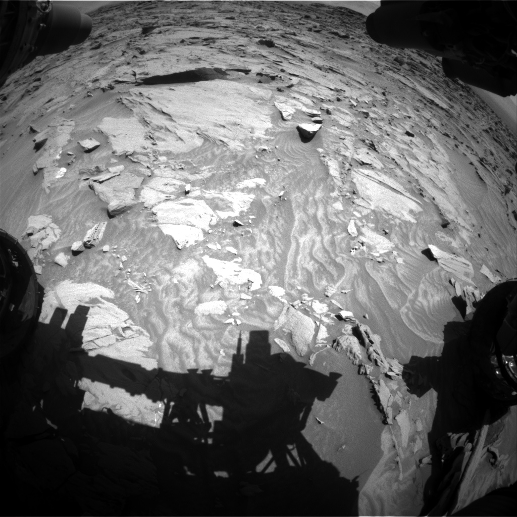Nasa's Mars rover Curiosity acquired this image using its Front Hazard Avoidance Camera (Front Hazcam) on Sol 1298, at drive 2668, site number 53