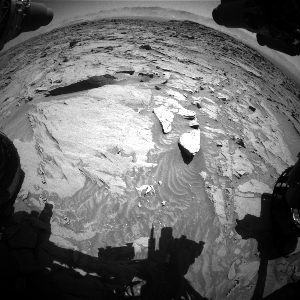 Nasa's Mars rover Curiosity acquired this image using its Front Hazard Avoidance Camera (Front Hazcam) on Sol 1298, at drive 2680, site number 53