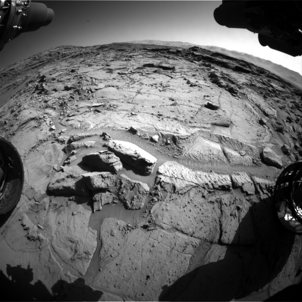 Nasa's Mars rover Curiosity acquired this image using its Front Hazard Avoidance Camera (Front Hazcam) on Sol 1298, at drive 2980, site number 53