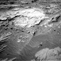 Nasa's Mars rover Curiosity acquired this image using its Left Navigation Camera on Sol 1298, at drive 2758, site number 53