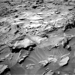 Nasa's Mars rover Curiosity acquired this image using its Left Navigation Camera on Sol 1298, at drive 2806, site number 53