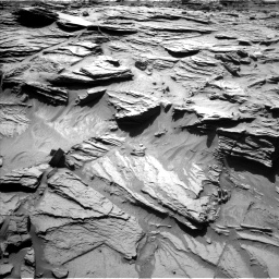 Nasa's Mars rover Curiosity acquired this image using its Left Navigation Camera on Sol 1298, at drive 2974, site number 53