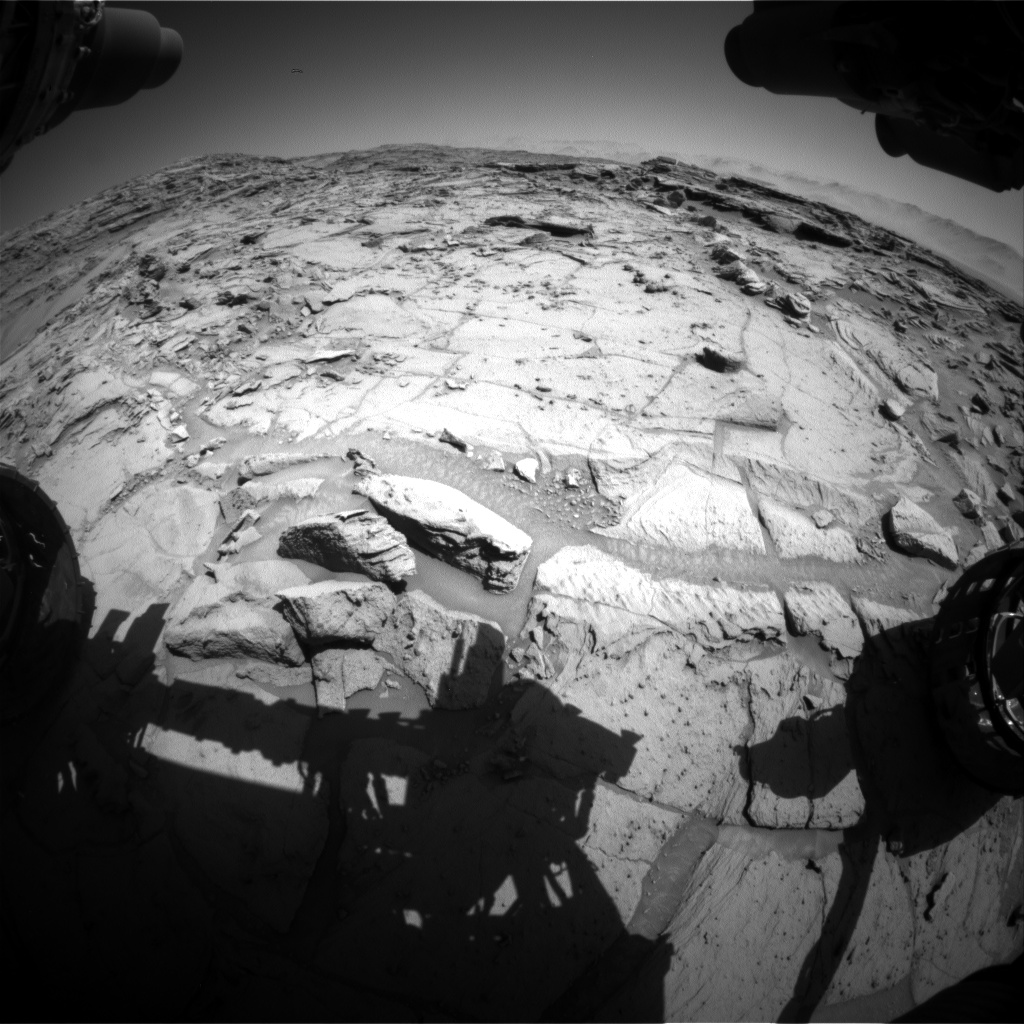 Nasa's Mars rover Curiosity acquired this image using its Front Hazard Avoidance Camera (Front Hazcam) on Sol 1299, at drive 2980, site number 53