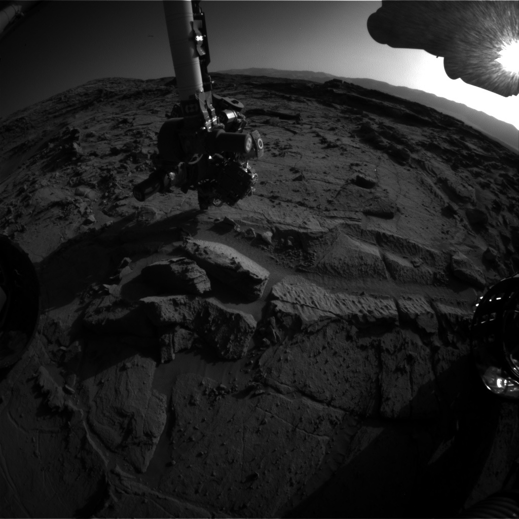 NASA's Mars rover Curiosity acquired this image using its Front Hazard Avoidance Cameras (Front Hazcams) on Sol 1300