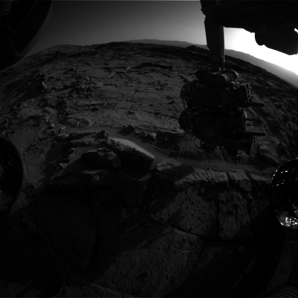 Nasa's Mars rover Curiosity acquired this image using its Front Hazard Avoidance Camera (Front Hazcam) on Sol 1300, at drive 2980, site number 53