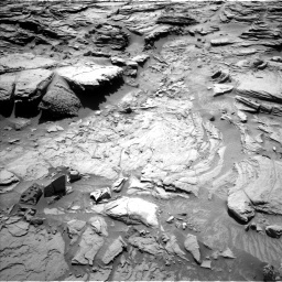 NASA's Mars rover Curiosity acquired this image using its Left Navigation Camera (Navcams) on Sol 1301