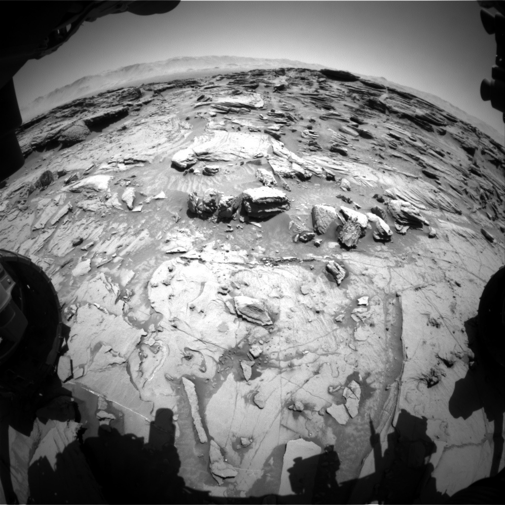 NASA's Mars rover Curiosity acquired this image using its Front Hazard Avoidance Cameras (Front Hazcams) on Sol 1306