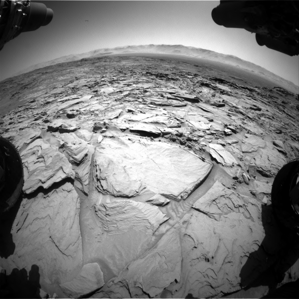 Nasa's Mars rover Curiosity acquired this image using its Front Hazard Avoidance Camera (Front Hazcam) on Sol 1309, at drive 88, site number 54