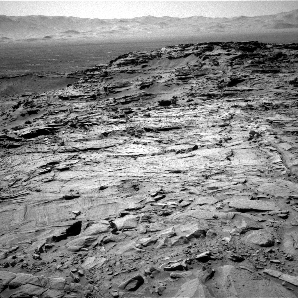 NASA's Mars rover Curiosity acquired this image using its Left Navigation Camera (Navcams) on Sol 1309