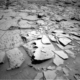Nasa's Mars rover Curiosity acquired this image using its Left Navigation Camera on Sol 1310, at drive 154, site number 54