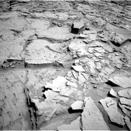 Nasa's Mars rover Curiosity acquired this image using its Left Navigation Camera on Sol 1310, at drive 166, site number 54