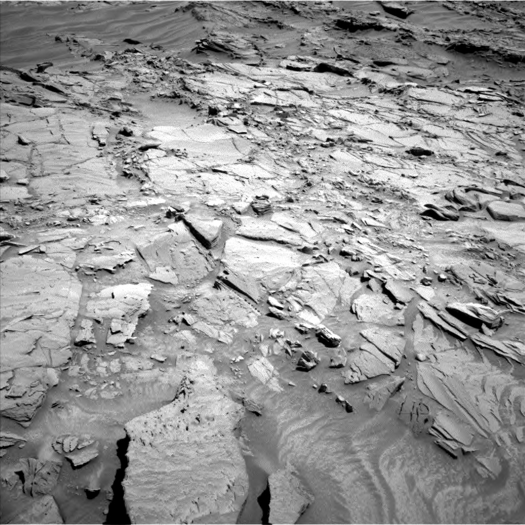 Nasa's Mars rover Curiosity acquired this image using its Left Navigation Camera on Sol 1310, at drive 196, site number 54