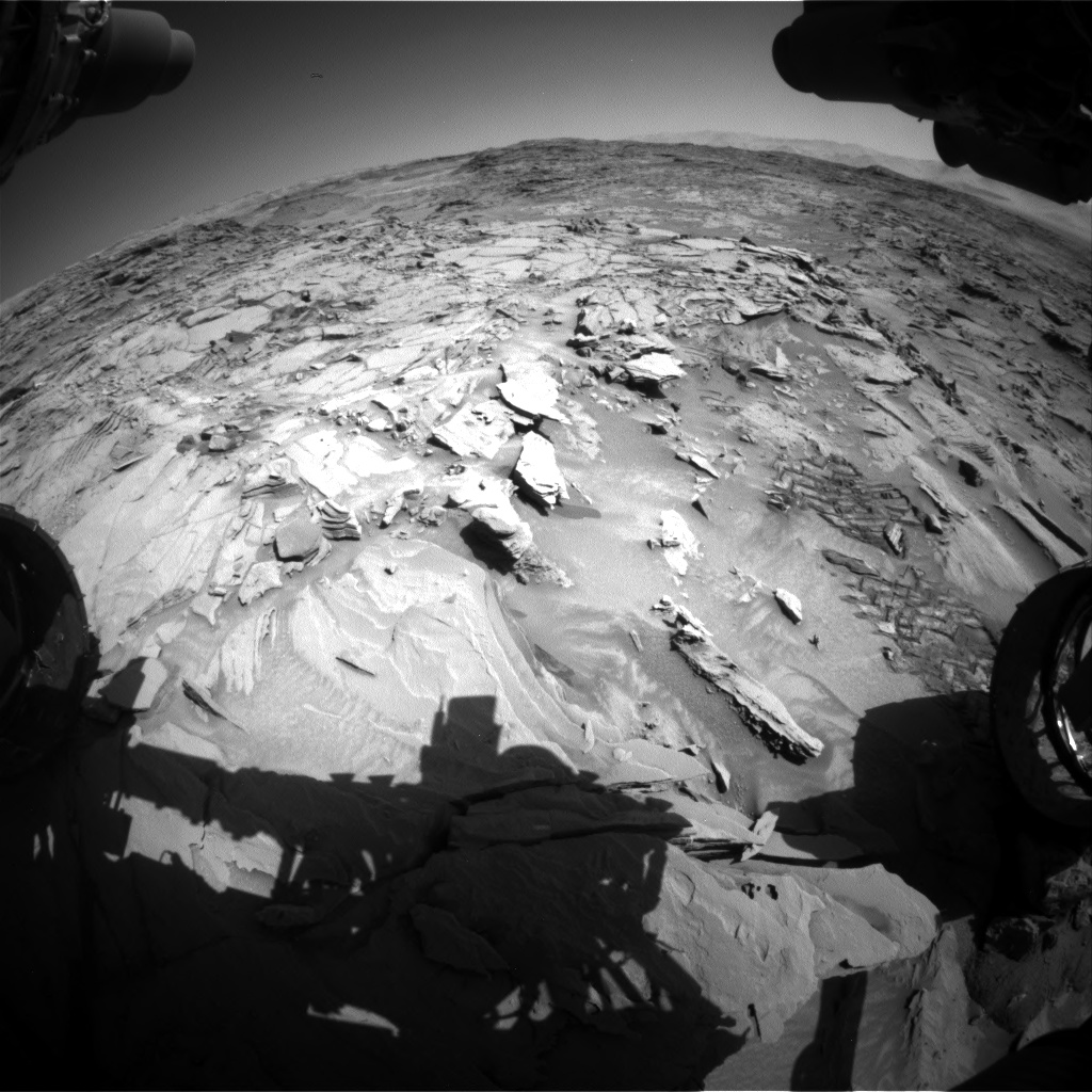 Nasa's Mars rover Curiosity acquired this image using its Front Hazard Avoidance Camera (Front Hazcam) on Sol 1311, at drive 388, site number 54