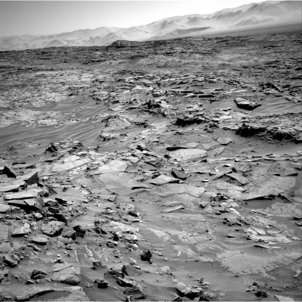 NASA's Mars rover Curiosity acquired this image using its Right Navigation Cameras (Navcams) on Sol 1311