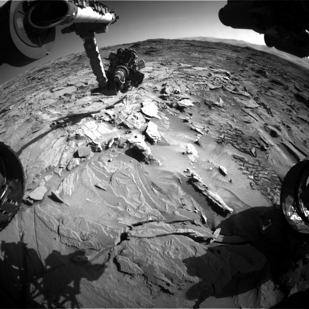 Nasa's Mars rover Curiosity acquired this image using its Front Hazard Avoidance Camera (Front Hazcam) on Sol 1313, at drive 388, site number 54