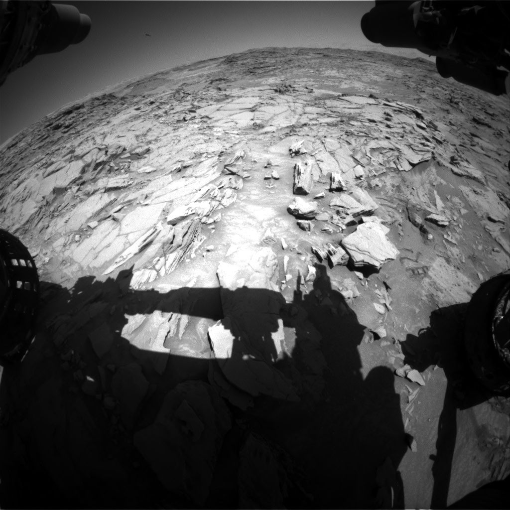 Nasa's Mars rover Curiosity acquired this image using its Front Hazard Avoidance Camera (Front Hazcam) on Sol 1315, at drive 412, site number 54