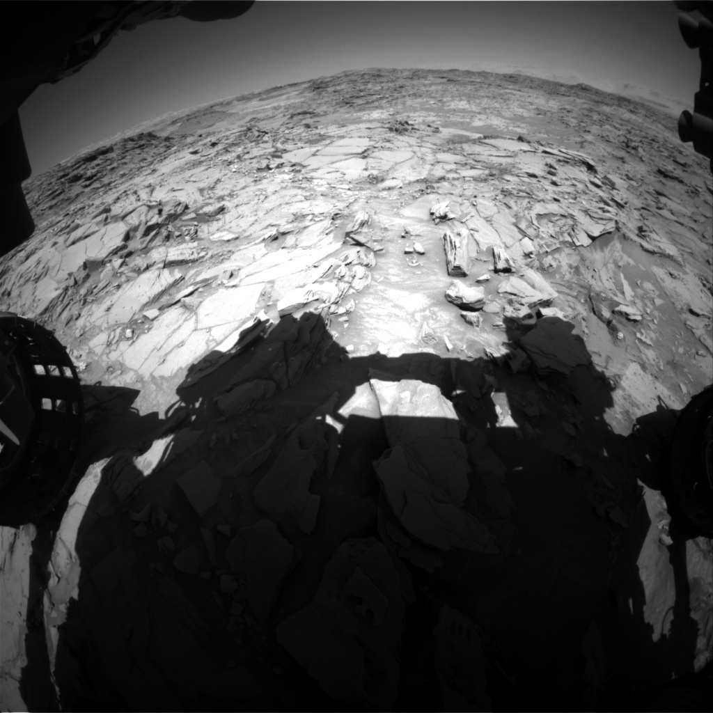 Nasa's Mars rover Curiosity acquired this image using its Front Hazard Avoidance Camera (Front Hazcam) on Sol 1316, at drive 412, site number 54