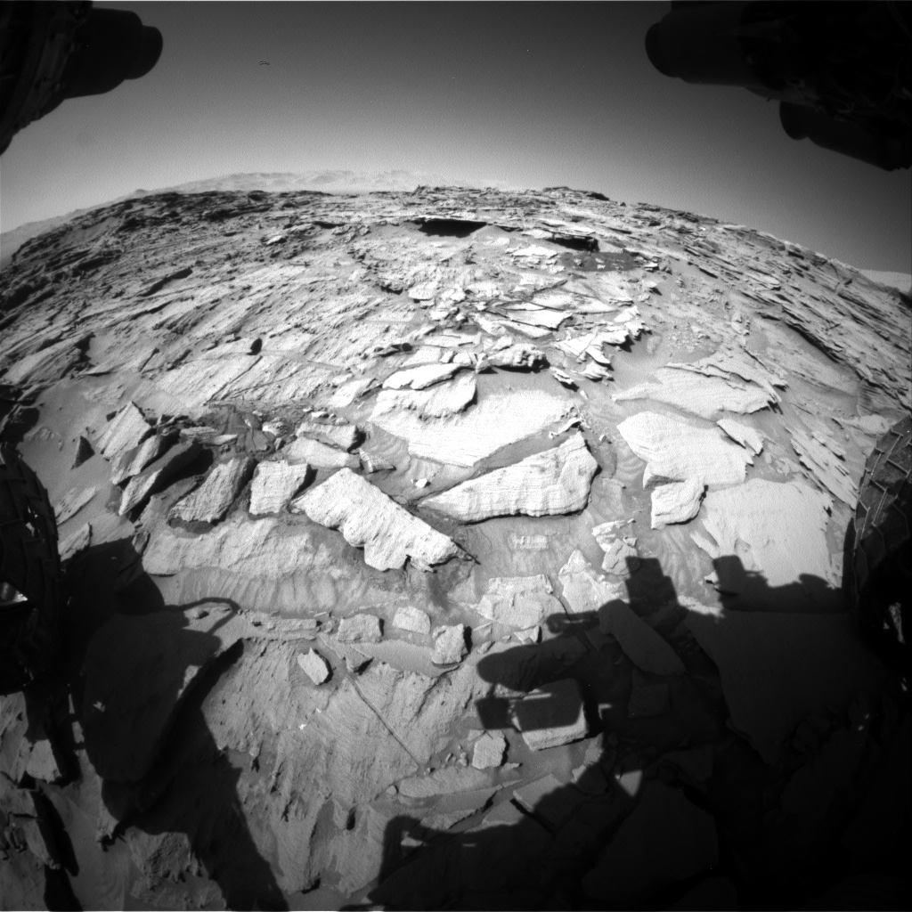 Nasa's Mars rover Curiosity acquired this image using its Front Hazard Avoidance Camera (Front Hazcam) on Sol 1316, at drive 622, site number 54
