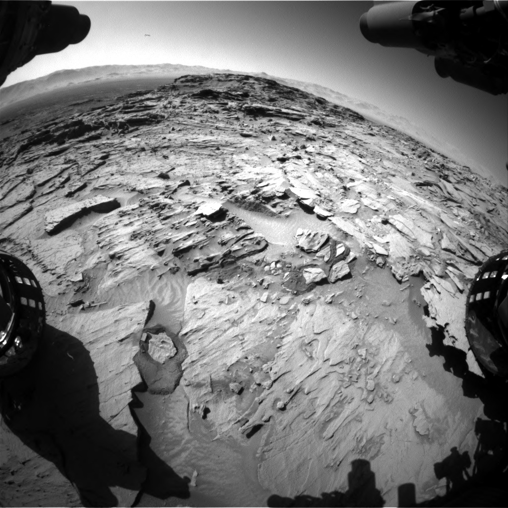 Nasa's Mars rover Curiosity acquired this image using its Front Hazard Avoidance Camera (Front Hazcam) on Sol 1316, at drive 668, site number 54