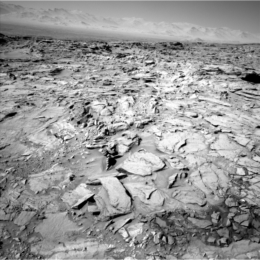 Nasa's Mars rover Curiosity acquired this image using its Left Navigation Camera on Sol 1316, at drive 668, site number 54