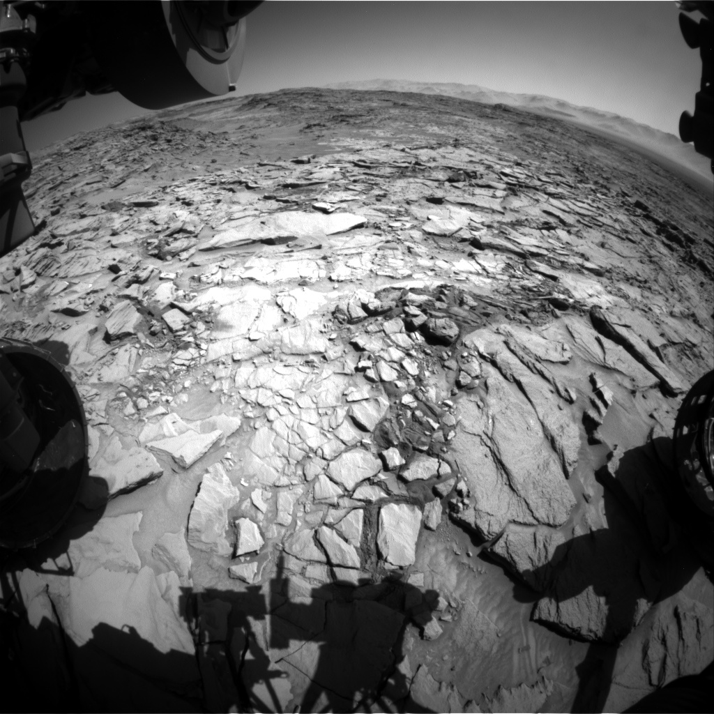 Nasa's Mars rover Curiosity acquired this image using its Front Hazard Avoidance Camera (Front Hazcam) on Sol 1317, at drive 746, site number 54