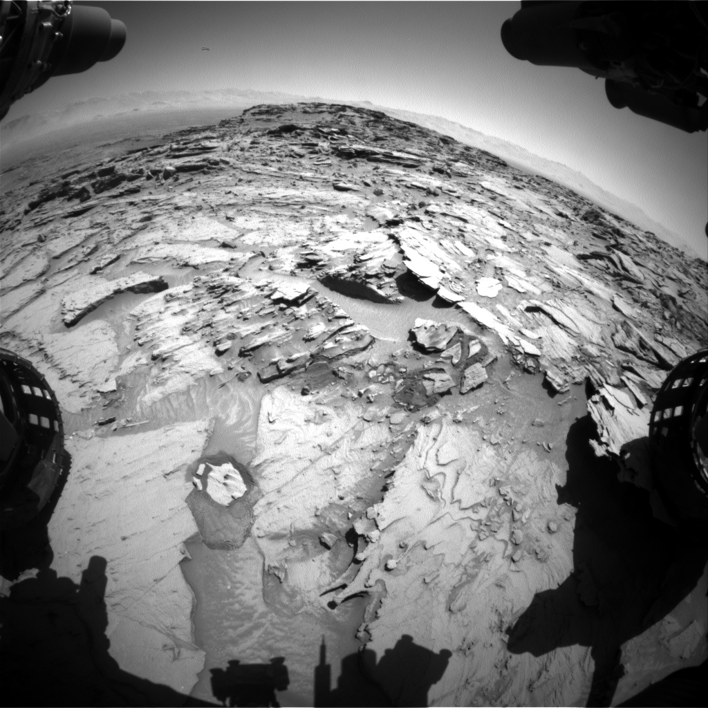 Nasa's Mars rover Curiosity acquired this image using its Front Hazard Avoidance Camera (Front Hazcam) on Sol 1317, at drive 668, site number 54