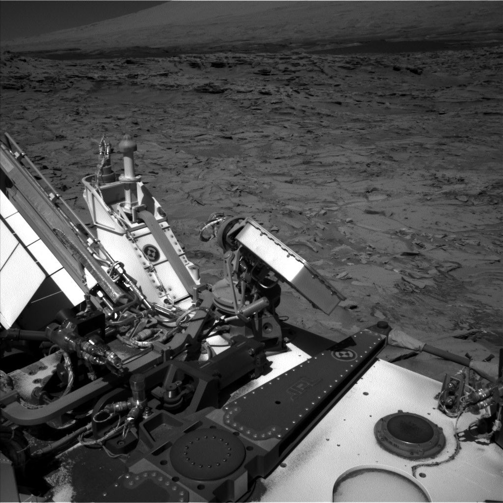 Nasa's Mars rover Curiosity acquired this image using its Left Navigation Camera on Sol 1317, at drive 746, site number 54
