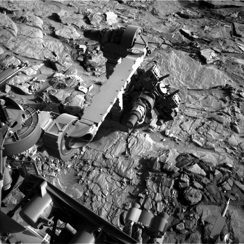 Nasa's Mars rover Curiosity acquired this image using its Left Navigation Camera on Sol 1318, at drive 746, site number 54
