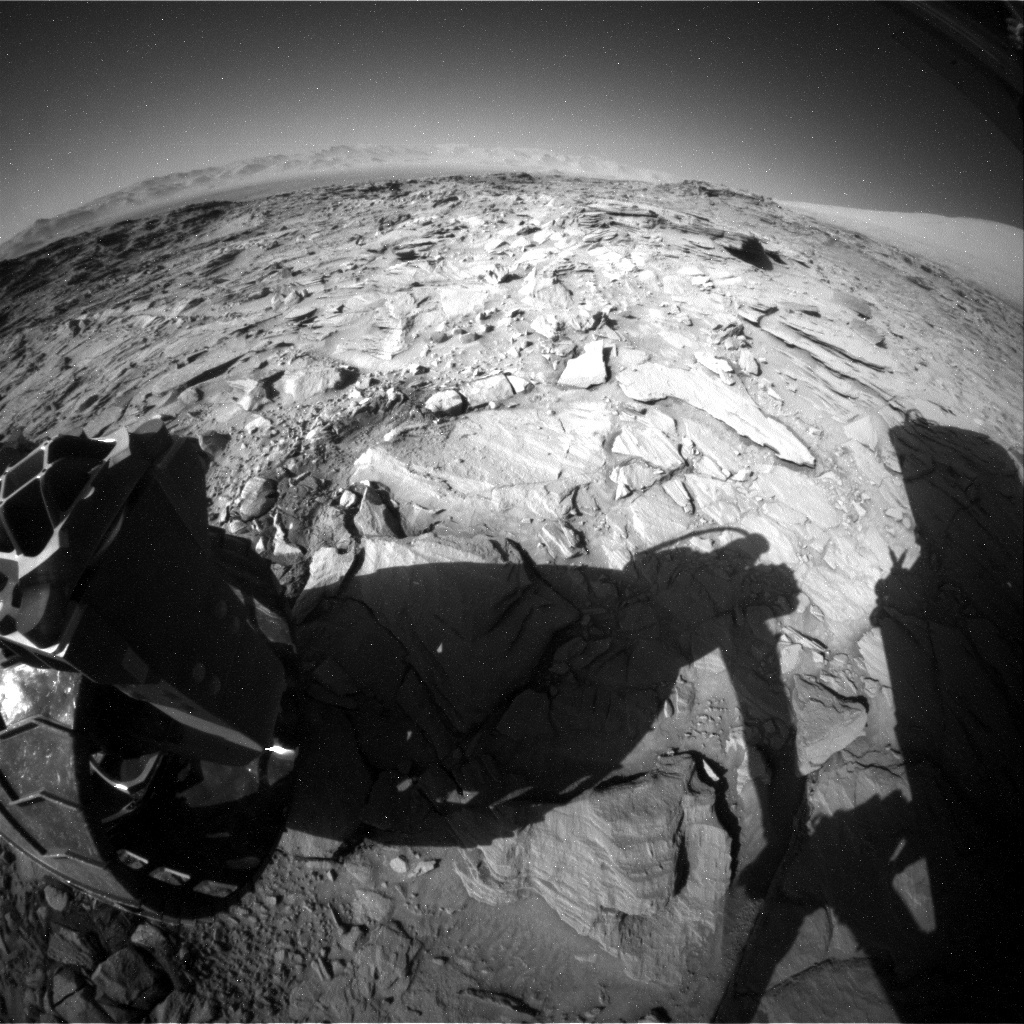NASA's Mars rover Curiosity acquired this image using its Rear Hazard Avoidance Cameras (Rear Hazcams) on Sol 1318