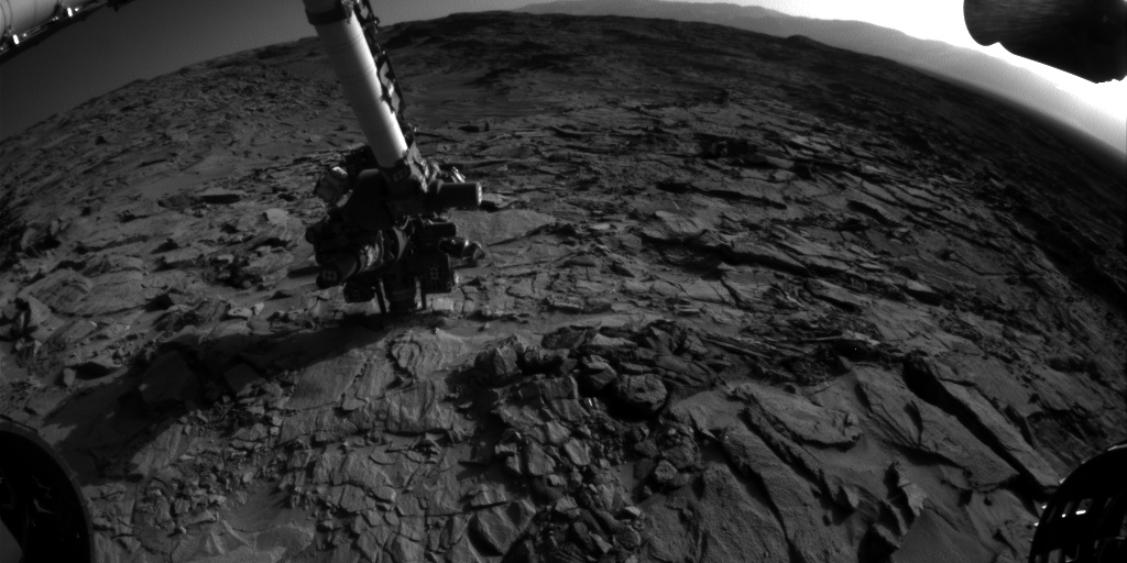 Nasa's Mars rover Curiosity acquired this image using its Front Hazard Avoidance Camera (Front Hazcam) on Sol 1320, at drive 746, site number 54