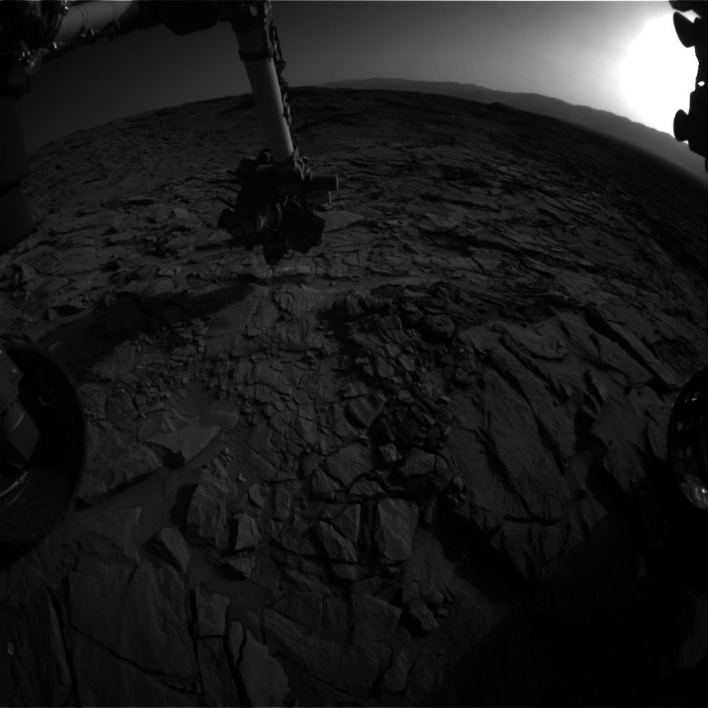 Nasa's Mars rover Curiosity acquired this image using its Front Hazard Avoidance Camera (Front Hazcam) on Sol 1321, at drive 746, site number 54