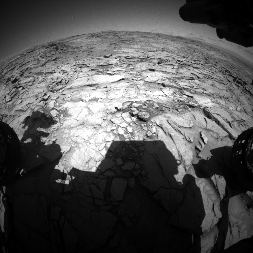 NASA's Mars rover Curiosity acquired this image using its Front Hazard Avoidance Cameras (Front Hazcams) on Sol 1321