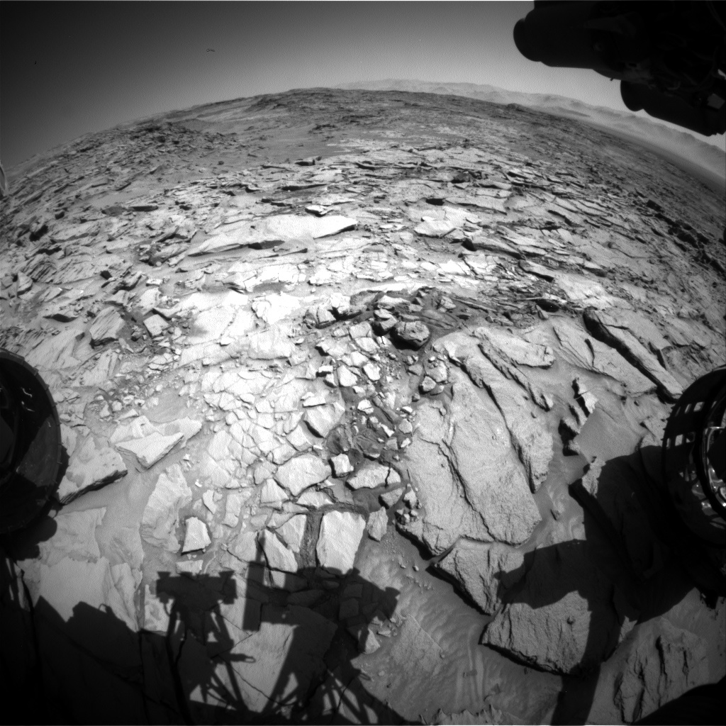 Nasa's Mars rover Curiosity acquired this image using its Front Hazard Avoidance Camera (Front Hazcam) on Sol 1322, at drive 746, site number 54