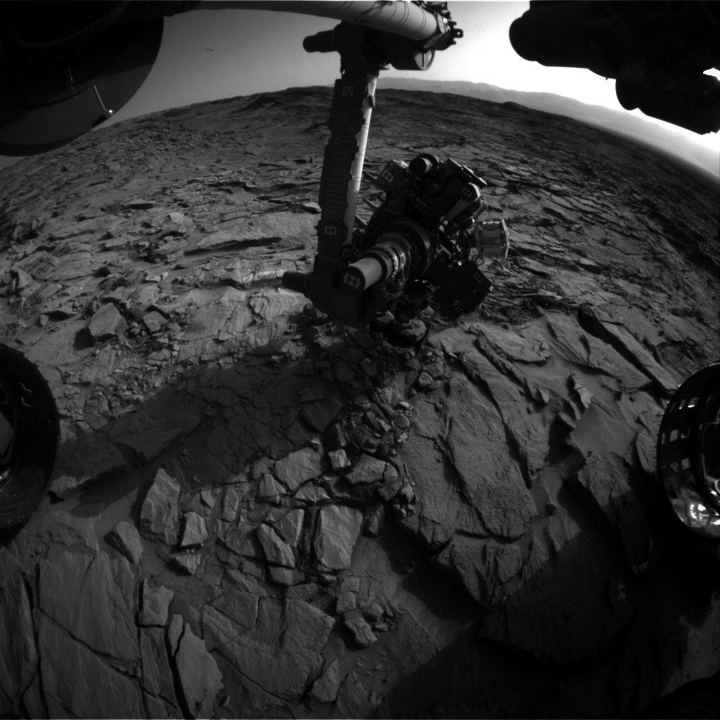 Nasa's Mars rover Curiosity acquired this image using its Front Hazard Avoidance Camera (Front Hazcam) on Sol 1325, at drive 746, site number 54