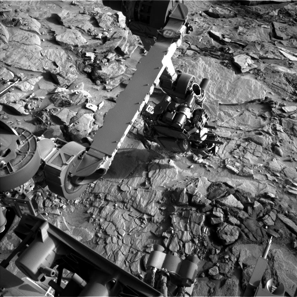 Curiosity's arm extended at Lubango