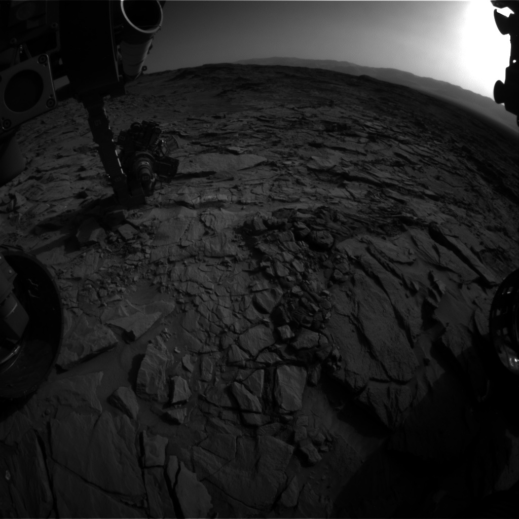 Nasa's Mars rover Curiosity acquired this image using its Front Hazard Avoidance Camera (Front Hazcam) on Sol 1326, at drive 746, site number 54