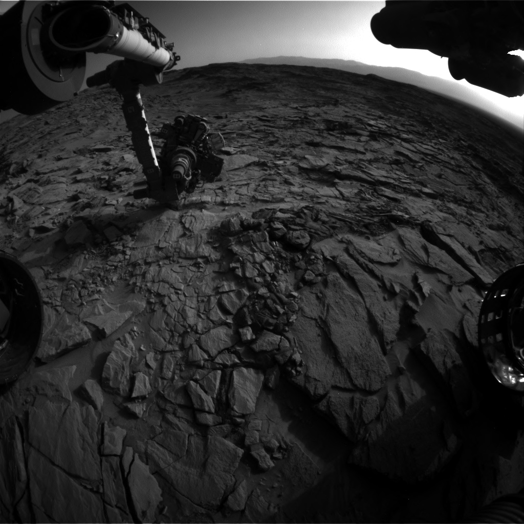 Nasa's Mars rover Curiosity acquired this image using its Front Hazard Avoidance Camera (Front Hazcam) on Sol 1327, at drive 746, site number 54