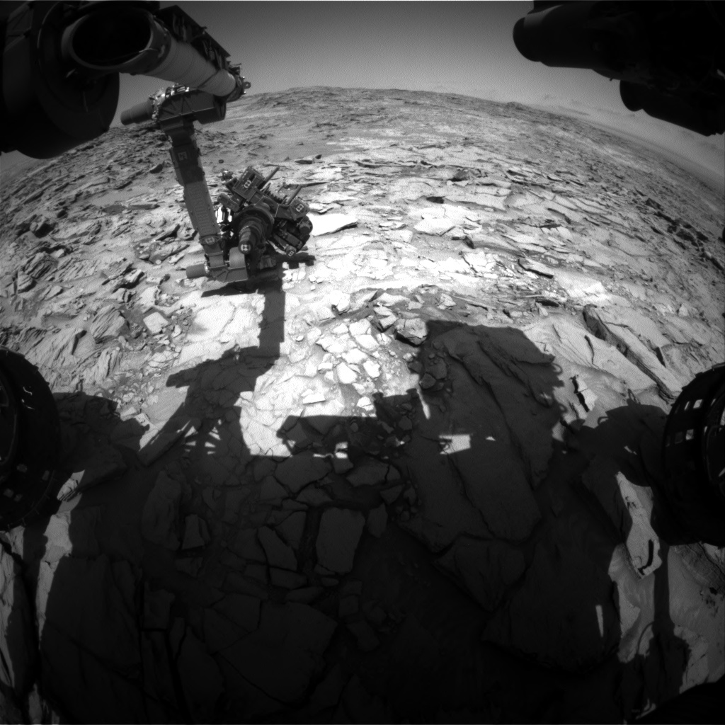 Nasa's Mars rover Curiosity acquired this image using its Front Hazard Avoidance Camera (Front Hazcam) on Sol 1328, at drive 746, site number 54