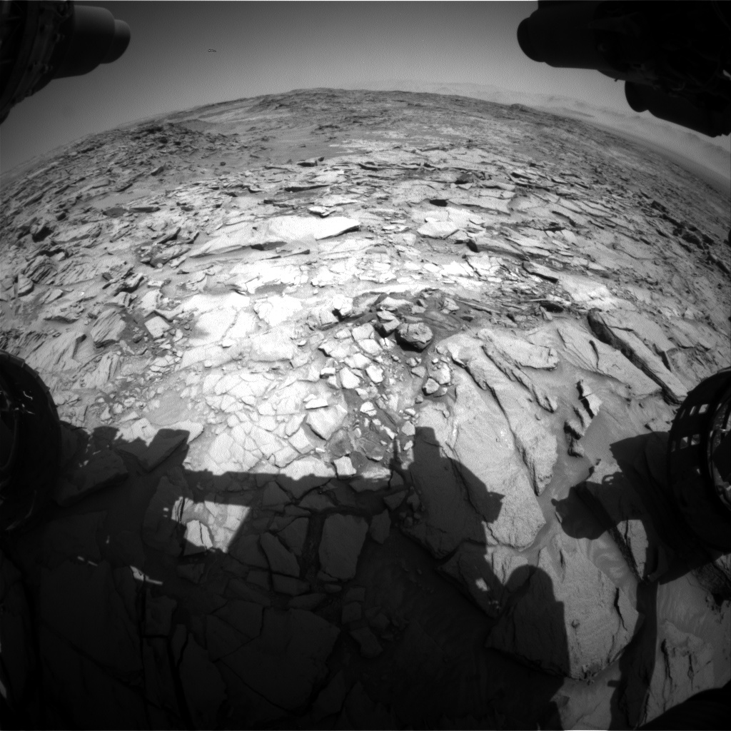 Nasa's Mars rover Curiosity acquired this image using its Front Hazard Avoidance Camera (Front Hazcam) on Sol 1329, at drive 746, site number 54