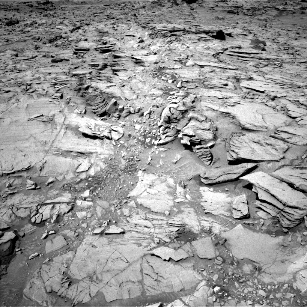 Nasa's Mars rover Curiosity acquired this image using its Left Navigation Camera on Sol 1329, at drive 908, site number 54