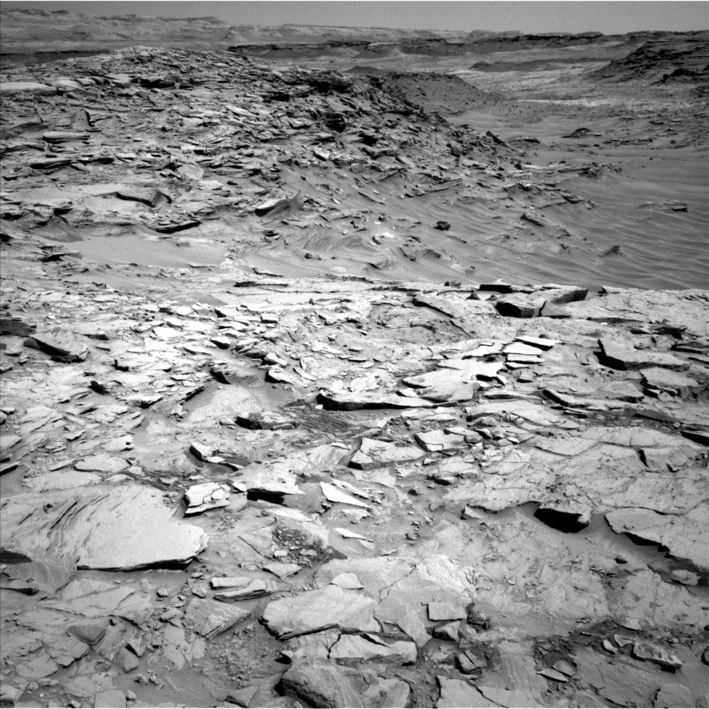 Nasa's Mars rover Curiosity acquired this image using its Left Navigation Camera on Sol 1329, at drive 938, site number 54