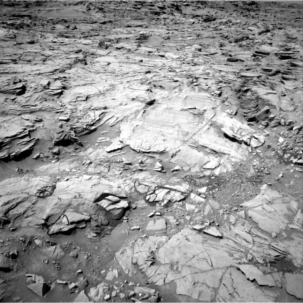 Nasa's Mars rover Curiosity acquired this image using its Right Navigation Camera on Sol 1329, at drive 908, site number 54