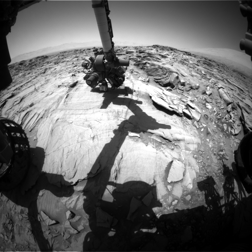 NASA's Mars rover Curiosity acquired this image using its Front Hazard Avoidance Cameras (Front Hazcams) on Sol 1331