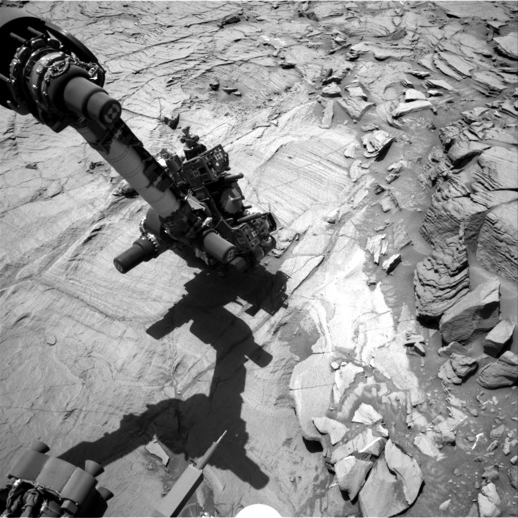 Nasa's Mars rover Curiosity acquired this image using its Right Navigation Camera on Sol 1331, at drive 938, site number 54