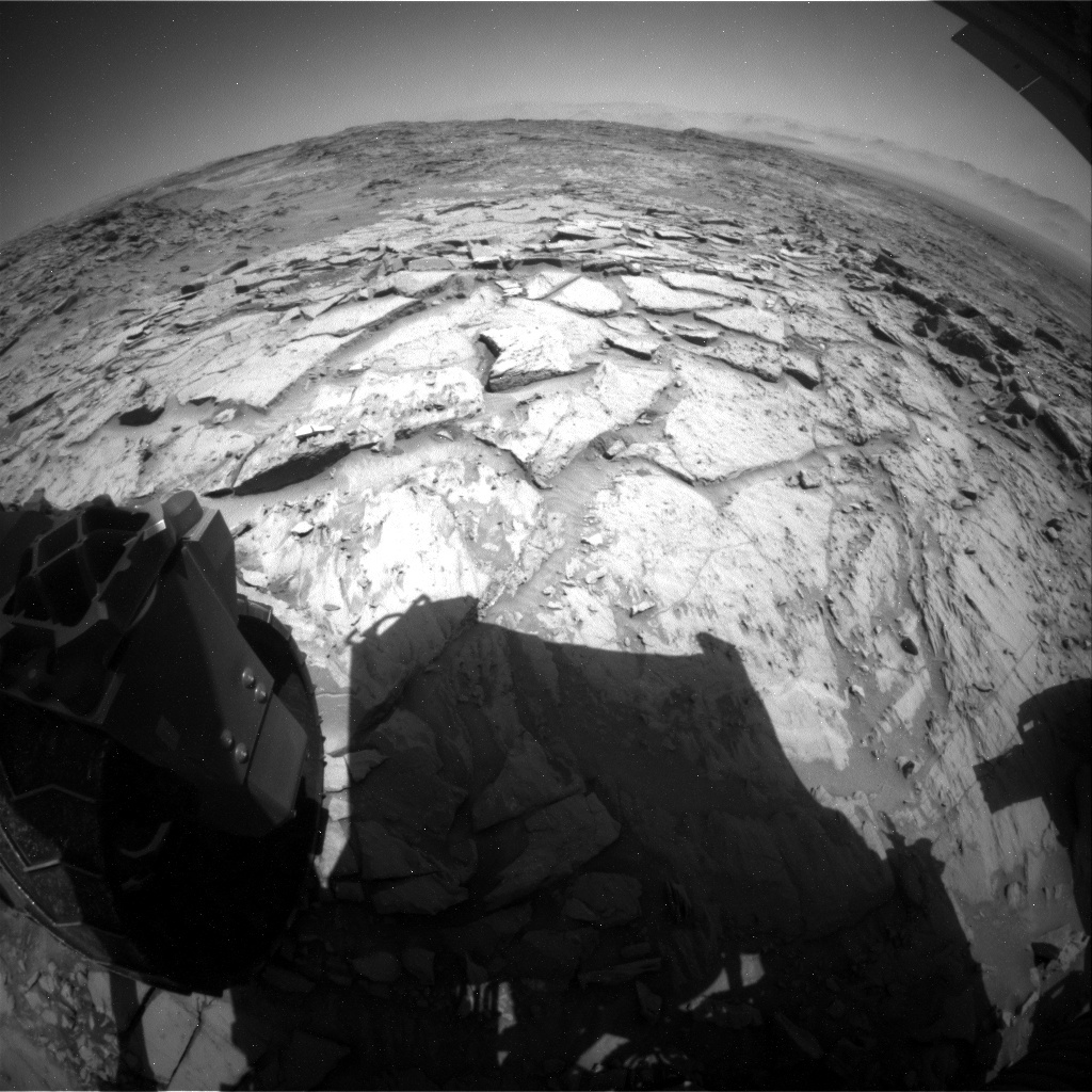 NASA's Mars rover Curiosity acquired this image using its Rear Hazard Avoidance Cameras (Rear Hazcams) on Sol 1331