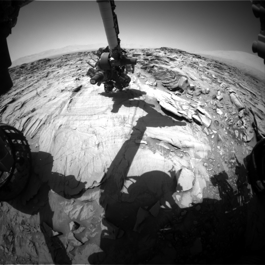 NASA's Mars rover Curiosity acquired this image using its Front Hazard Avoidance Cameras (Front Hazcams) on Sol 1332